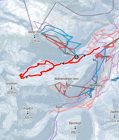 Karte / Schneeschuh am Schwarzwasser