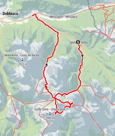 Karte / Die Drei Zinnen Das beeindruckende Dreigestirn der Dolomiten