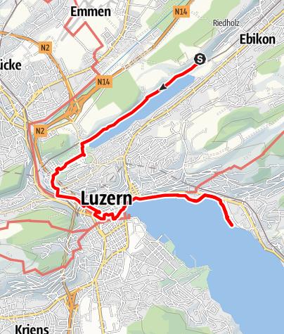 Map / Rotsee bis Luzern