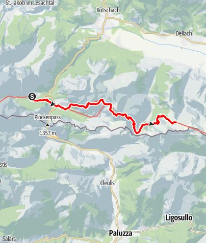 Karte / Transalp E32 Untere Valentinalm - Zollnersee Hütte