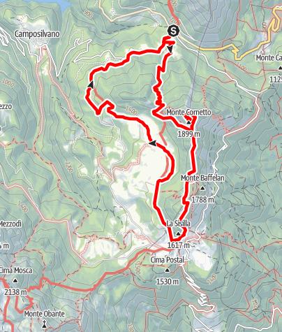 Map / Monte Cornetto - ein Kriegsweg mit einer faszinierender Felskulisse