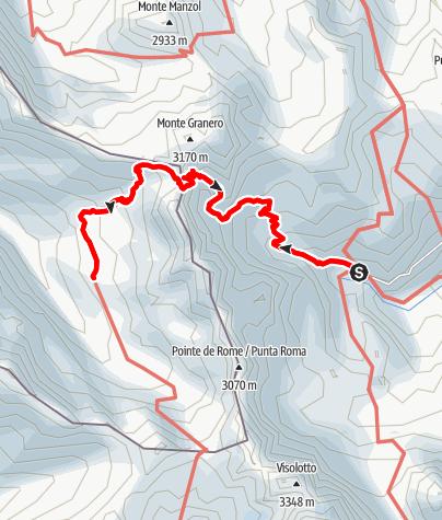 Karte / Pian del Re (2019 m) - Rif. Viso (2460 m)