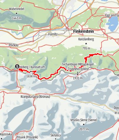 Karte / Transalp E36 Wurzenpass - Baumgartnerhof