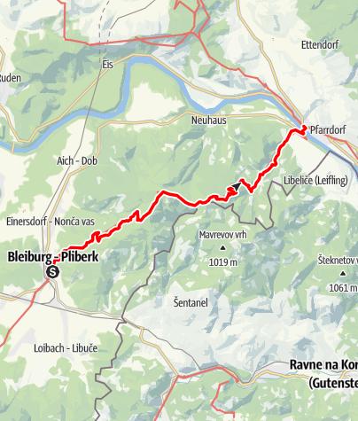 Karte / Transalp E43 Bleiburg - Lavamünd