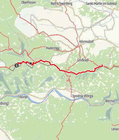 Karte / Transalp E45 Gasthof Strutz - St. Pongratzen