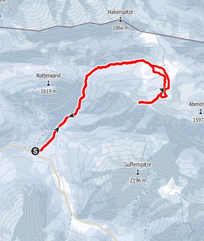 Karte / Schneidjoch vom Köglboden