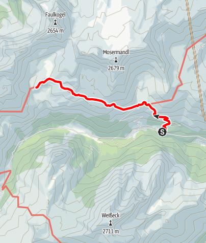 Karte / Tourenplanung 27.07.2019 / 1. Tag a.) u. b.)