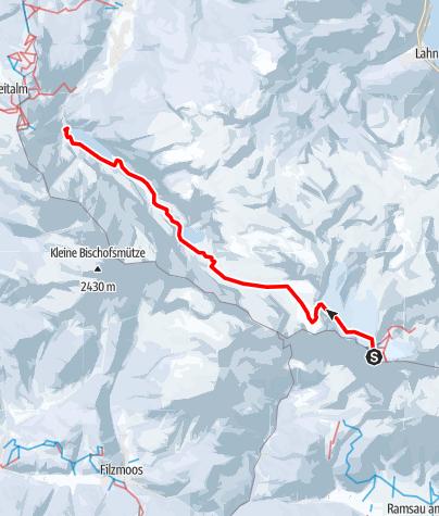 Karte / Vom Dachstein zum Gosau See