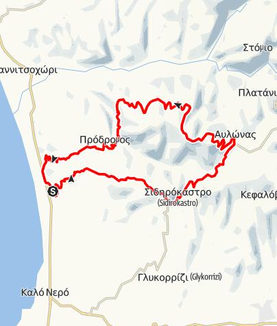Karte / Rund um den Koryphi, 829m