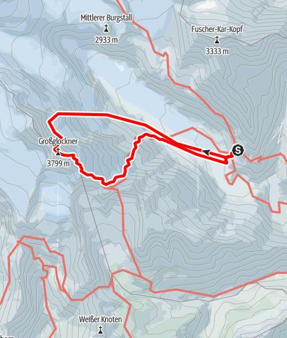 Karte / Großglockner (3798 m) Nordwand - Mayerlrampe