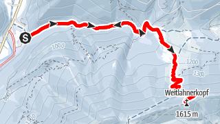 Karte / Weitlahnerkopf