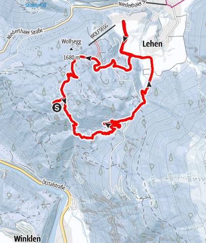 Karte / Schneeschuhtour am  27. Februar 2019