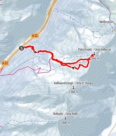 Karte / Flatschspitze (2566m)