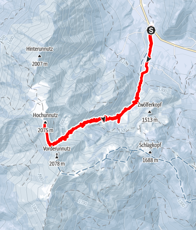 Map / Hochunnütz - Skitour mit Hund