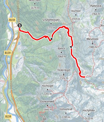 Karte / Wanderung zum Leopold Happisch Haus