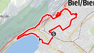 Map / PW Biel BE, 11 km Strecke