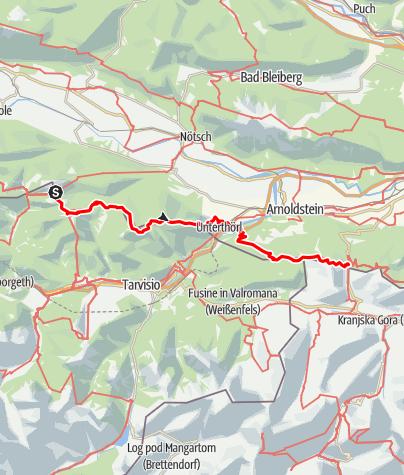 Karte / Transalp E35 Freistritzer Alm - Wurzenpass