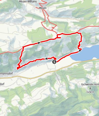 Karte / Über die Thaler Höhe zum Alpseeblick