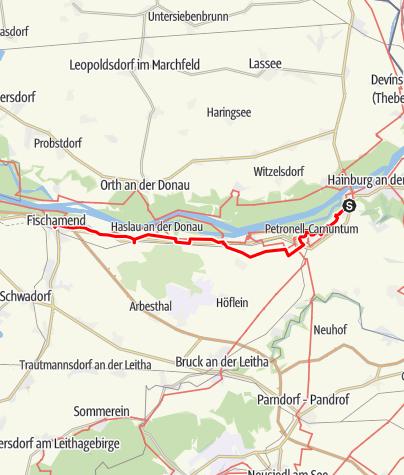 Karte / JW-Ost_03 Deutschaltenburg - Fischamend