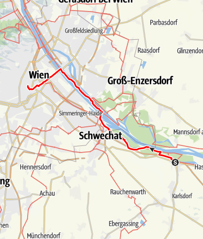Karte / JW-Ost_04 Fischamend - Wien-ori