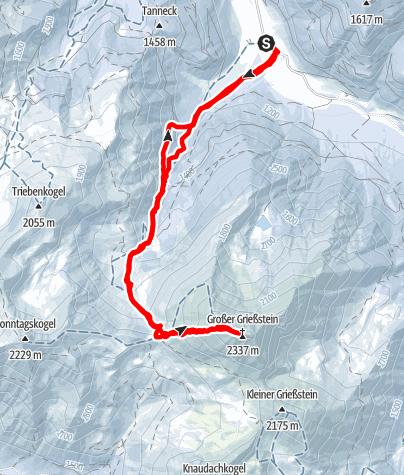Karte / Gr. Grießstein snowshoes