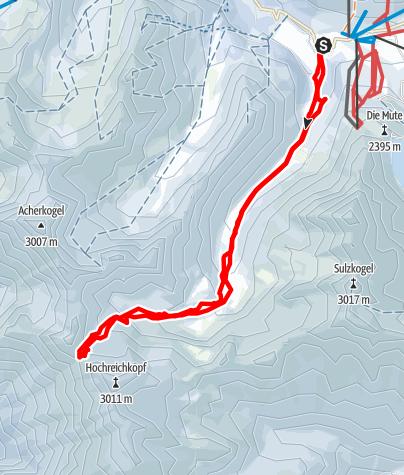 Karte / Niederreichscharte durch das Längental