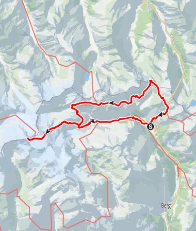 Karte / Hüttentour Großvenediger über Höheweg