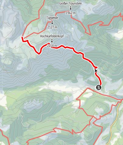 Karte / Laufener Hütte über Passrucksteig (Lungötz)