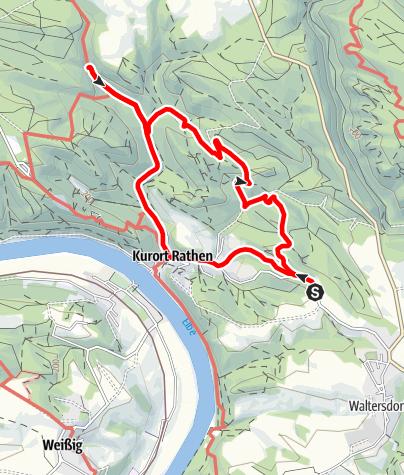 Karte / Gamrig zum Amselfall nach Rathen