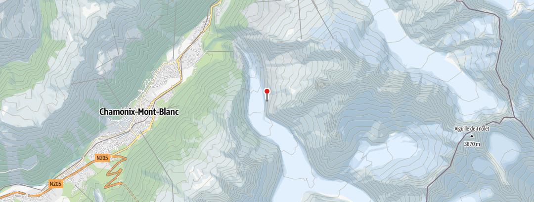 Karte / Mer de Glace (Juli/August 2019)