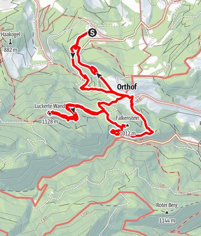 Karte / Luckerte Wand und Falkenstein