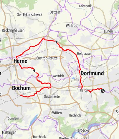 Karte / Hörde - Bochum über Emscherweg