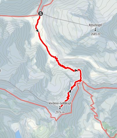 Karte / Vorder Geißlkopf / Hohe Geißel