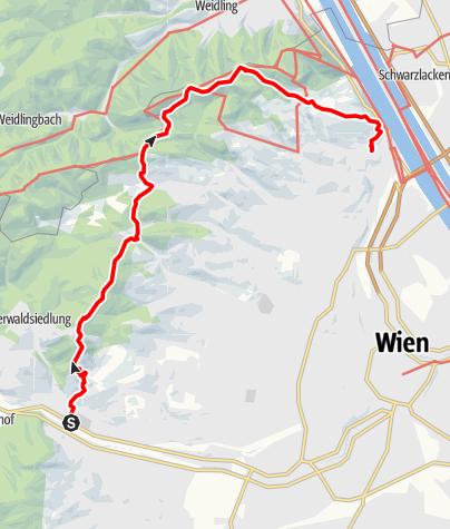 Karte / Gutes Wandern ist besser - Hütteldorf nach Nussdorf