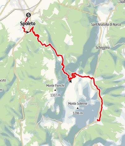 Karte / Graz - Rom 47 Spoleto-Macenano