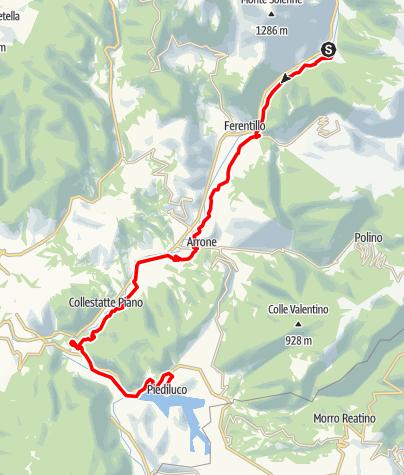 Karte / Graz - Rom 48 Macenano-Piediluco