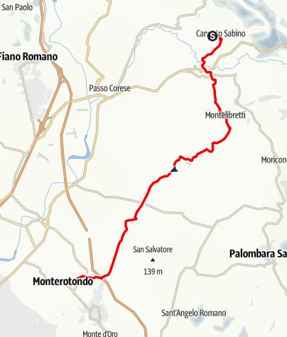 Karte / Graz - Rom 53 Canneto Sabino - Monterotondo