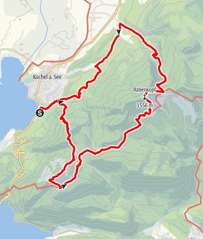 Map / Sonnenspitz - Jochberg - Rabenkopf hike