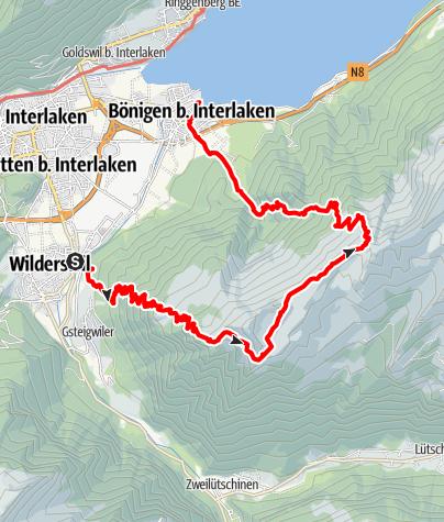 Karte / Schynige Platte, v1