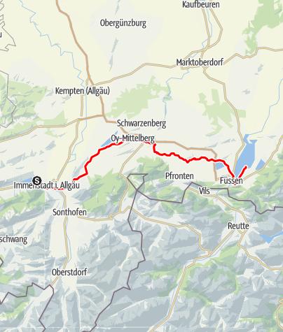 Karte / Immenstadt - Schwangau