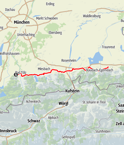 Karte / BAD TÖLZ - Bergen
