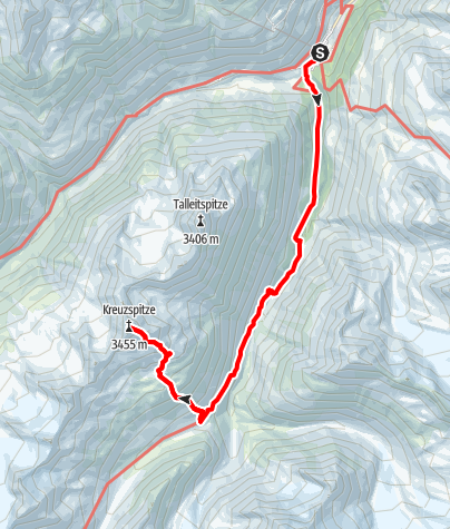 Karte / Tag 1: Kreuzspitze