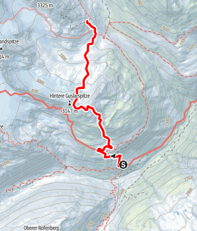 Karte / Tag 3: Vernagthütte