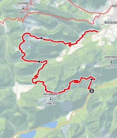 Karte / Wanderung über die Hördlalm zur Nesslauer Alm