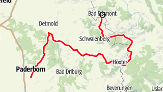 Karte / 03. Tag_Niedersachsen - NRW_Bad-Pyrmont - Paderborn_6.30 h_119 km_792 Hm