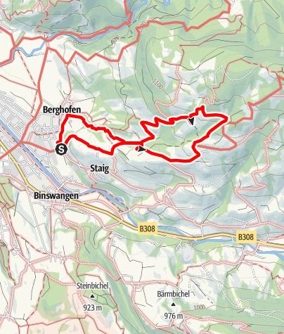 Karte / Zum verschwundenen Bergdorf Oberried