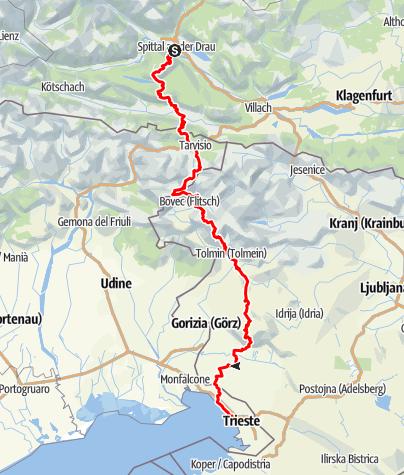 Karte / Spittal an der Drau - Triest