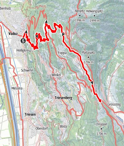 Karte / Vaduz - Sücka