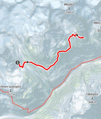 Karte / Venter Runde im UZS, Etappe 5: Vernagthütte - Breslauer Hütte (Seufertweg)