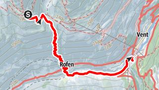 Karte / Venter Runde im UZS, Etappe 6 (letzte): Breslauer Hütte - Vent